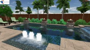 Each pool is custom fit to your backyard! 3D renderings provide you with a realistic view of how your design will look when finished.