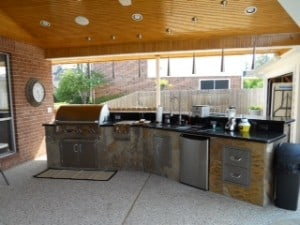 Outdoor kitchens are the perfect environment for barbeques and entertaining!
